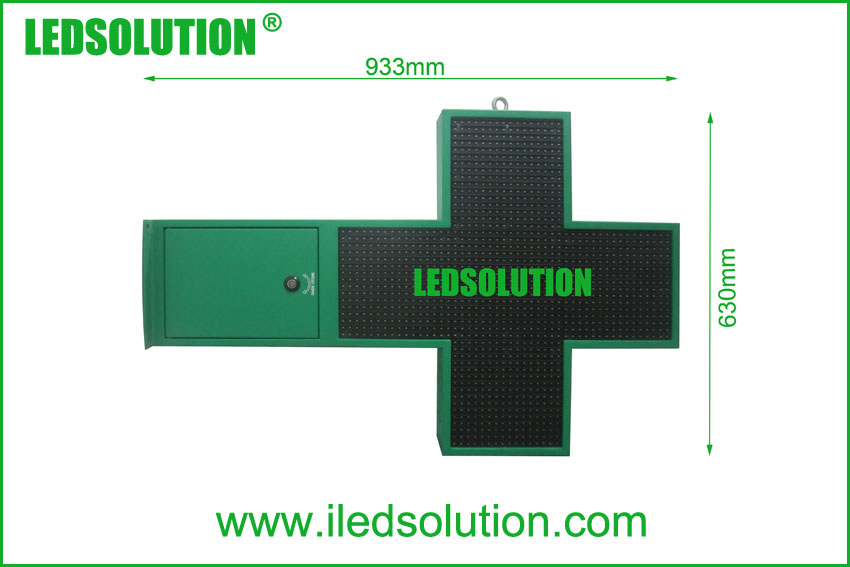 P12.5 LED Cross Size