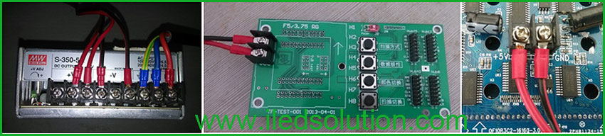 Trouble Shooting - Connect testing card with power