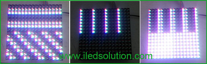 Trouble Shooting - The top part and the lower part of led module show different contents