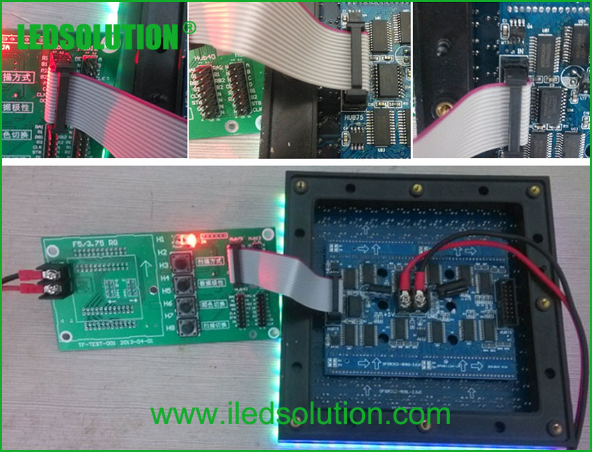 Trouble Shooting - connect testing card with led module