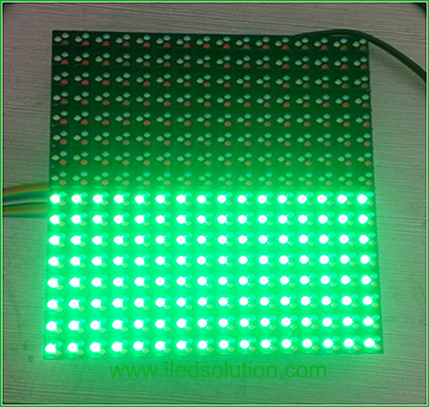 Trouble Shooting - half of led module in red or in green all the time