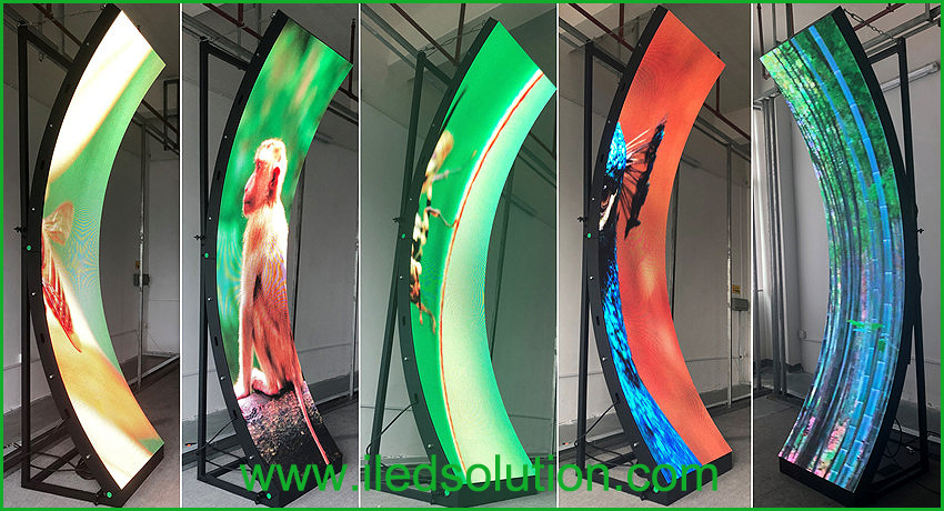 Indoor P4 curved led display