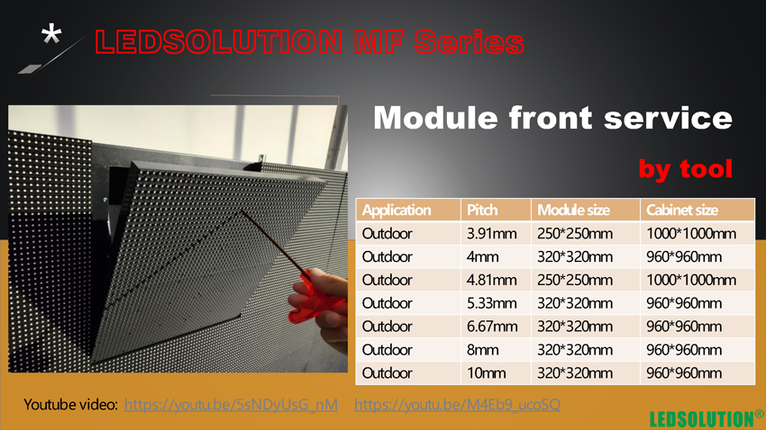 LEDSOLUTION-Semi-Self-fixing-outdoor-Front-service-LED-Display