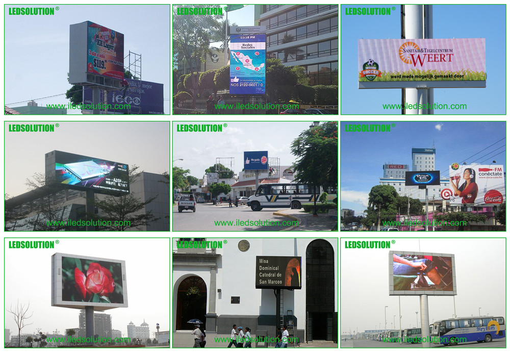 Outdoor Single Pole LED Displays Project Cases