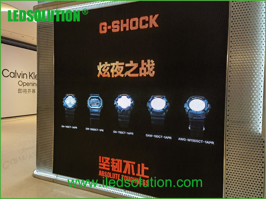 LEDSOLUTION P3 LED Display shines in Casio store in Shenzhen (2)