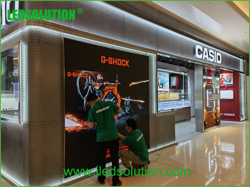LEDSOLUTION P3 LED Display shines in Casio store in Shenzhen (6)