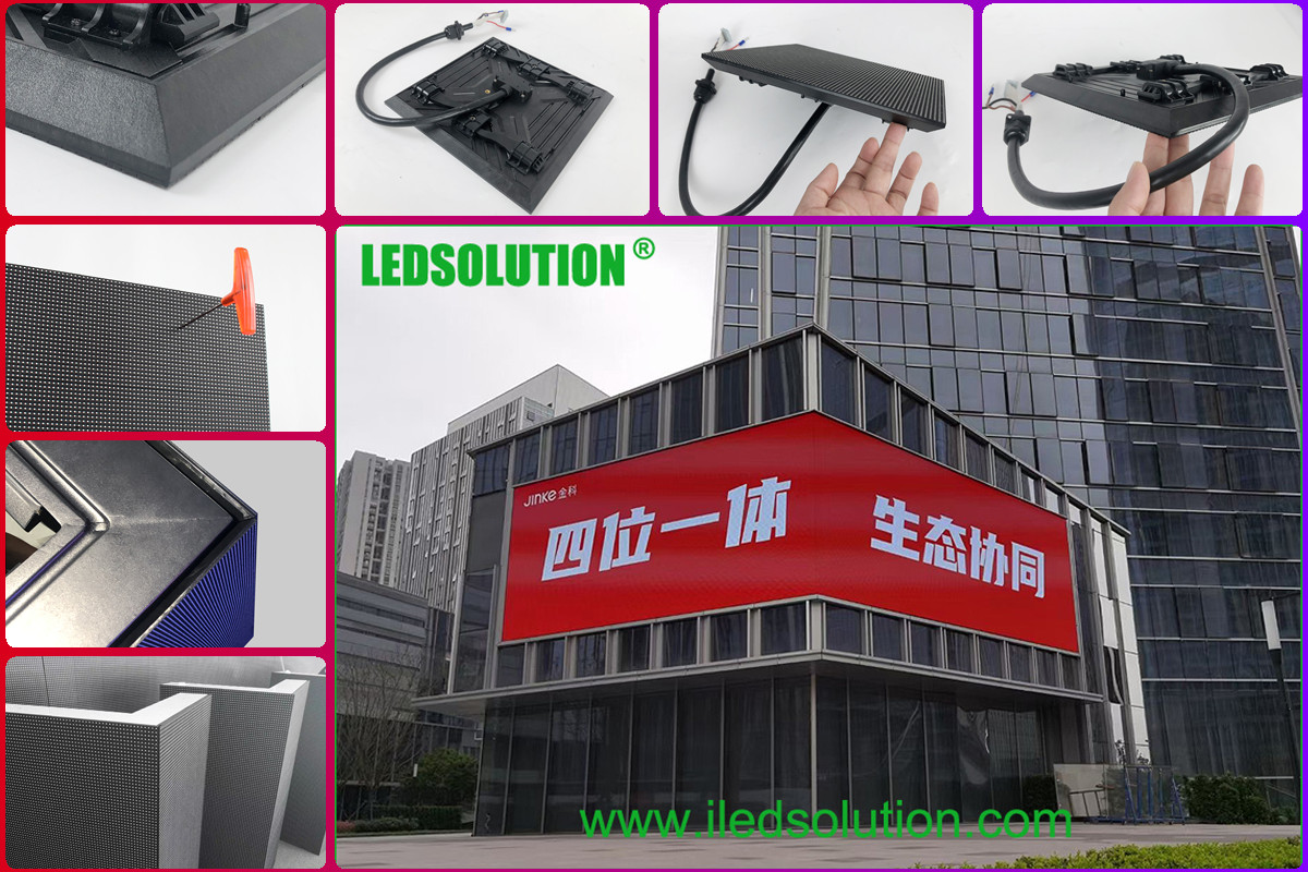 Outdoor P3.91 front service Corner LED Display Solution